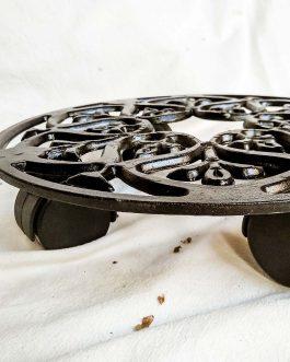 Porta maceta Mandala con ruedas