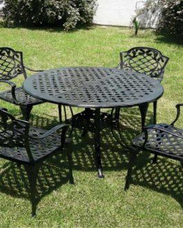 Chateau x 4 sillas – Medida de mesa de 0.95 m
