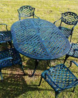 Chateau x 6 sillas – Medida de mesa: 0.97 x 1.6 mts