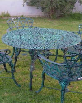 Boston Grande x 4 sillones – Medidas de mesa: 1 m